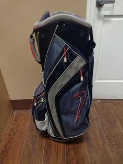 Nike 14 Divider Golf Cart Bag Blue/Gray/Pink/Black w Raincov