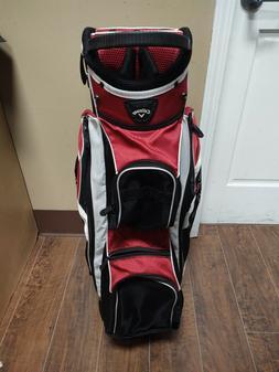 Callaway 14 Divider Golf Cart Bag Red/Black/White