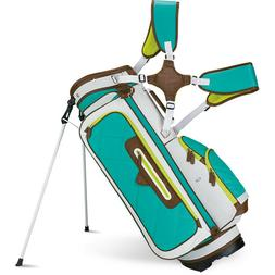 New Callaway 2015 Up Town Stand Carry Golf Bag - White/Teal/