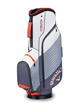 Callaway Golf 2017 Chev Cart Bag, Titanium/White/Orange