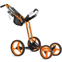 2017 Sun Mountain Micro Cart GT, Golf Push Cart, Orange, New