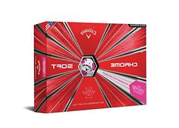 Callaway 2018 Chrome Soft Golf Balls, Truvis Pink
