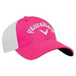 Callaway Golf 2018 Heather Adjustable Hat, Pink/ White