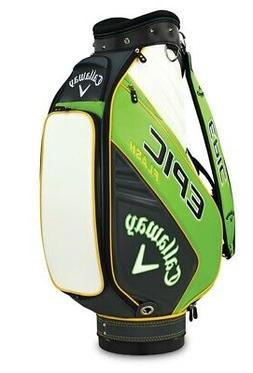 2019 Callaway Epic Flash Mini Staff Golf Bag Green/Charcoal/