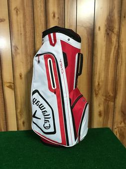 2019 Callaway Golf Chev Cart Bag - Red/ White New With Tags