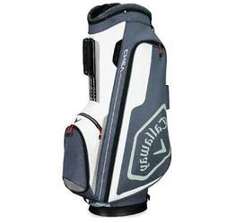 2019 Callaway Golf Chev Cart Bag - Titanium/White/Silver