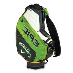 2019 CALLAWAY GOLF EPIC FLASH STAFF BAG GREEN YELLOW WHITE-