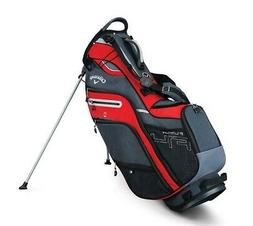 2019 Callaway Golf Fusion 14- Way Stand Bag - Red/Titanium/S
