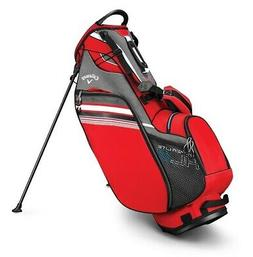 2019 Callaway Golf Hyper- Lite 3 Stand Bag - Red/Titanium/Wh