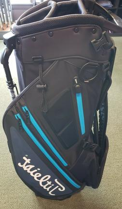 2019 TITLEIST HYBRID 5 STAND CARRY BAG, BLACK/CHARCOAL/PROCE