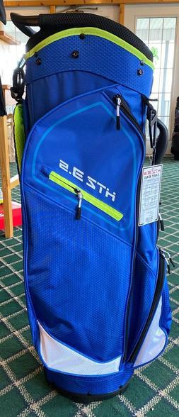 2020 Hot-Z 3.5 Golf Cart Bag ~ Blue & Lime ~ 14 Way Full Len
