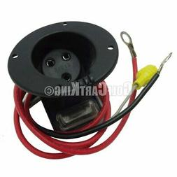 48 Volt Charger Receptacle And Fuse Assembly | Electric Golf