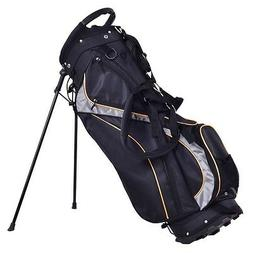 "9"" Golf Sport Outdoor Stand Bag 7 Pockets 7-way Divider Carr"
