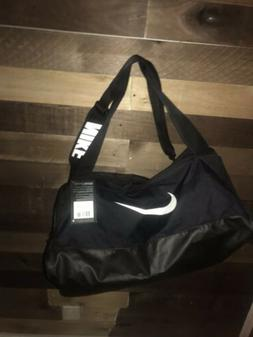 NIKE Brasilia Training Duffel Bag, Black/Black/White, Medium