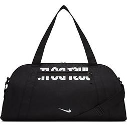 NIKE Women's Gym Club Duffel Bag, Black/Black/White, One Siz