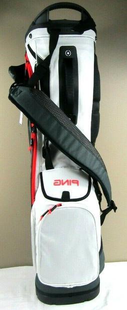 Ping 2018 Hoofer 14 Carry Stand Golf Bag, Graphite/White/Ele