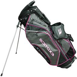 Tour Edge Men's Exotics Xtreme3 Stand Bag, Black/Charcoal/Me