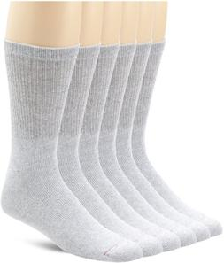 Hanes Active Crew Socks, 6 pack