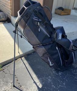 Nike Air Sport Stand Golf Bag Black Silver Stand Bag 8 Way D