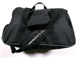 black gym duffle bag with shoe compartment