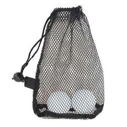 Black Nylon Mesh Net Bag for Golf balls