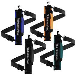 Black Orange Golf Clubs Holder Carrier Portable Travel Case