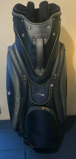 Blue Nike Golf Bag, Cart Bag, With Rain Cover- Collector / V