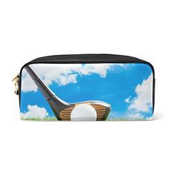 ALAZA Blue Sky Golf Ball Sport PU Leather Pen Pencil Case Po