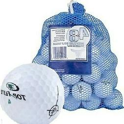 Brand New Top Flite 48 Recycled Golf Balls in Mesh Bag