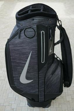 BRAND NEW Nike Golf Staff Golf Bag Gray/Black Leather Cart R