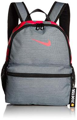 NIKE Kids' Brasilia Just Do It Mini Backpack, Cool Grey/Blac