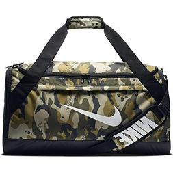 NIKE Brasilia Medium Duffle - All Over Print, Neutral Olive/