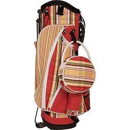 Sassy Caddy Women's Zesty Golf Stand Bag, Tomato Red/Apple G
