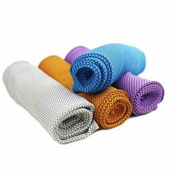 Cooling Towel 4 Packs Magic Ice Towels 40'x12' Snap for Spor