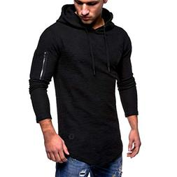 Corriee Hoodie for Men Mens Autumn Winter Casual Drawstring