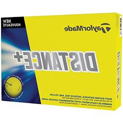 TaylorMade Distance Plus Golf Balls - Yellow