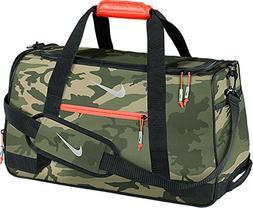 Nike Sport Duffel III Gym Bag, MD Olive/Silver/Bright Crimso