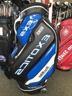 Tour Edge Exotics EXS Staff Golf Cart Bag With Wheels 4-Way