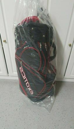 TOUR EDGE Exotics Golf Bag Red, White + Black Lots of Pocket
