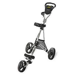 Bag Boy Express DLX Pro Push Cart, Silver/Black