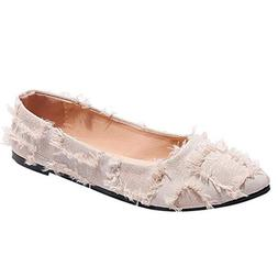 Kiminana Fashion Ladies Shallow Mouth Slip-On Shoes ❀ Flat