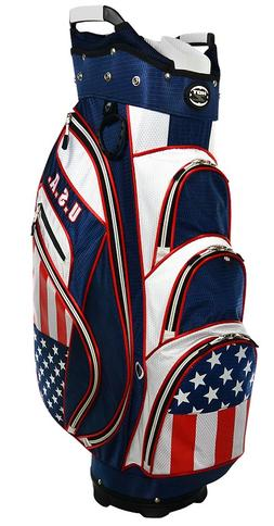 Hot-Z Golf Flag Cart Bag USA