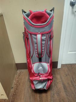 Cobra Fly-ZS 14 Divider Cart Golf Bag White/Pink with Rainco