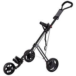 Tangkula Foldable Golf Cart Lightweight 3 Wheels Golf Club P