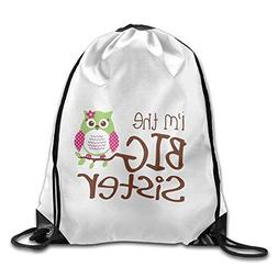 Khom Funny Waterproof I'm The Big Sister Bags Drawstring Bac
