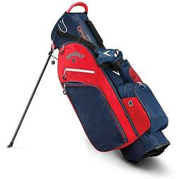 Callaway Fusion Zero Stand Bag - Navy/Red/White