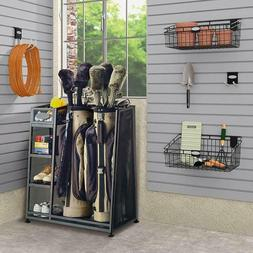 Garage Organizer Rack Store Golf Bags Clubs Accessories Perf