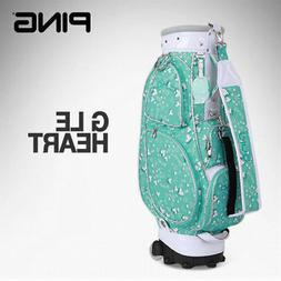 PING GLE HEART Women's Slim Sports Golf Caddy Bag MintWhite