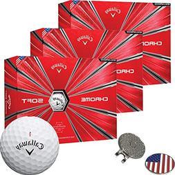 Callaway Golf 2018 Chrome Soft Golf Balls White  + 1 Custom