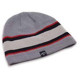 Callaway Golf 2018 Winter Chill Beanie , Charcoal/ Red
